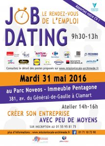 Flyer Job Dating Clamart